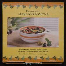 PORTMEIRION POMONA ALFRESCO ROUND BAKING DISH SINGLE HANDLE
