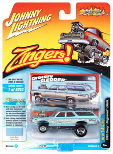 Johnny Lightning Street Freaks 1969 Chevy Kingswood Estate VS.B R2 New 2021 1:64