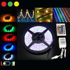STRISCIA A LED RGB 5 M MT METRI 300 SMD 3030 BOBINA STRIP ADESIVA ALIMENTATORE