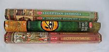 Lot 60 Incense Sticks Hem Egyptian Sampler Egyptian Musk - Jasmine - Horus Eye
