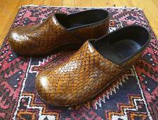 RARE DANSKO LEATHER SNAKESKIN PROFESSIONAL CLOGS 41 US 10 10.5 shoe snake skin