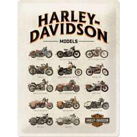 Blechschild HARLEY DAVIDSON Models USA 30x40 cm gewölbt geprägt Biker Schild NEU
