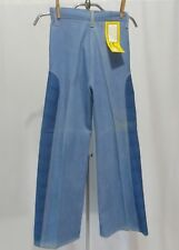 Vintage 70s denim Jeans Pants Dead Stock NWT Girls 10 High Waist Mod 2 Tone
