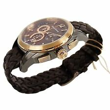 Tommy Bahama Brown Dial Brown Leather Strap Chronograph Men's Watch 10018287