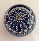 Vintage Scottish Perthshire Millefiori Latticino Centre P Cane Glass Paperweight