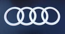 Audi.Rings White Trunk Rear A3 S3 A4 S4 RS4 A5 S5 RS5 A6 S6 TT TTRS Badge Emblem