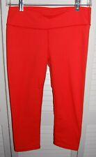 Women's Fabletics Capri Leggings Coral Red (Sz 2) Excellent!
