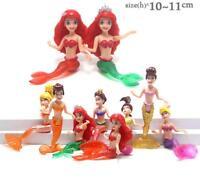 disney lots mermaid princess PVC figure figures set of 8pcs toy dolls new