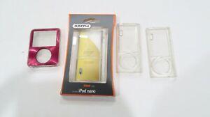 Griffin belkin ipod nano clear case lot ipod 2nd gen case 4 cases lot NIB & Used