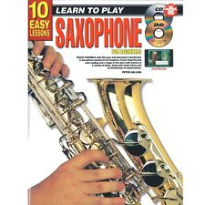 More details for saxophone tenor sax or alto sax for beginners - tutor music book cd & dvd - h8