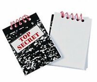 Pack of 12 - Top Secret Notebooks - Detective Police Spy Party Loot Bag Fillers