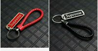 Supreme Leather Keychain Bundle (Black And Red).