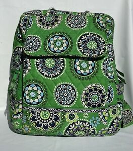 Vera Bradley Large Backpack Cupcakes Green