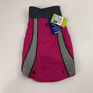 Top Paw 2 in 1 Dog Sweater Coat Pink Reflective New