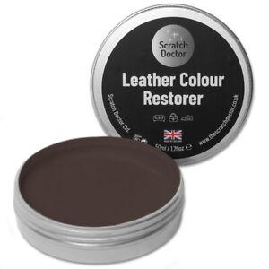 50ml CHOC BROWN Leather Colour Restorer For Faded/Worn Leather Shoe Handbag Sofa