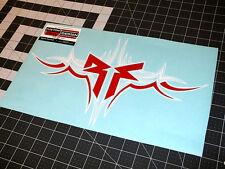 "15"" White & Red TRIBAL ROCKFORD FOSGATE ""RF"" Vinyl Decal Sticker Sign Truck Car"