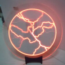 """12"""" Red Plasma Plate Disk Lightning Light Lamp for Holiday Party Club Bar Decor"""