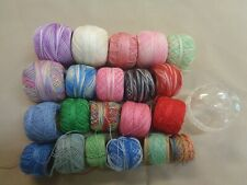 Mixed Lot Of 20 Assorted Tatting Threads & Holder