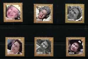 Gibraltar Diamond Jubilee Set of 6 Stamps MNH Queen Elizabeth 2012 FV £5.36p