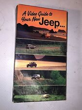 A video Guide to your new jeep Vhs Manual - Cherokee or Waggoner