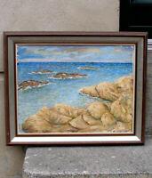 Jalmari Ruokokoski (Finnish, 1886) Rocky shore Baltic sea. Dated 1926. Very rare