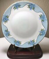"Antique 1898-1923 Jaeger J&C Bavaria Peerless Blue Hand Painted Floral Plate 9"""