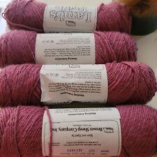 4 Skeins Lambs Pride Yarn Antique Mauve 85% Mohair 15% Wool