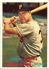 1957 Topps #104 Hank Foiles, Pittsburgh Pirates AUTOGRAPHED EX-MT