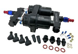 1200HP++ 380LPH EFI HI FLOW FUEL PUMPS & BRACKET KIT + MANIFOLDS 044 BOSCH STYLE