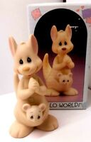 "Precious Moments 1988 ""Hello World"" Kangaroo and Baby w/Box"