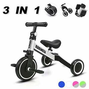 3 in 1 Kids Trike / Balance Bike for 1-4 Years Old Boys Girls Toddlers Tricycle
