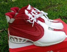 9 MEN'S NIKE AIR ZOOM VICK 2 FALCONS WHITE RED CASUAL CLASSIC SHOES RETRO SILVER