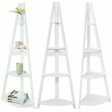 4 Tier Corner Ladder Bookshelf Display Rack Storage Shelf Organiser Bookcase AU