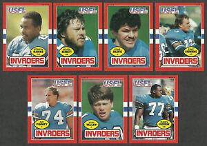 1985 Topps USFL Houston Gamblers 7 Card Team Set Lot Richard Johnson XRC