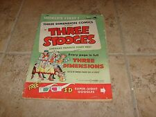 RARE THE THREE STOOGES VOL 1 # 2 NOT 3D GLASSES 1953 Golden Age Comic