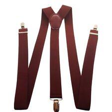 35mm hommes large bretelles en vin Bretelles à clipser élastique pantalon jeans