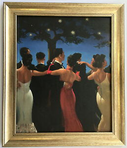Waltzers by Jack Vettriano Framed Canvas Effect Print 51cm x 43cm Dancers