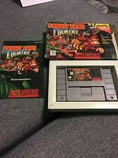 SNES Donkey King Country Super Nintendo Game, Box, Instruction Booklet