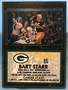 BART STARR  GREEN BAY PACKERS  SUBLIMATION PHOTO PLAQUE