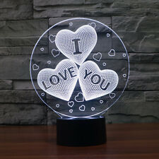 I LOVE YOU Heart Night Light LED Table Lamp Valentine's day Gift For Girlfriend