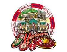 Mónaco monte carlo casino fürstenpalast madera imán Souvenir, 9,5 CM, nuevo