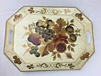 Vintage Hand Decorated Tole By Pilgrim Art No.148 Serving Tray Painted Fruits