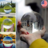 50/80mm Photography Crystal Ball Sphere Decoration Lens Photo Prop Clear US