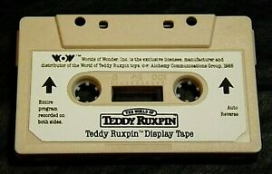 TEDDY RUXPIN AUDIO CASSETTE DISPLAY TAPE BEIGE WORLDS OF WONDER -TAPE ONLY-WORKS