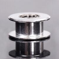 1Pc Aluminum 3D Printer HW 20T 5mm Bore Smooth Idler Pulley 6mm GT2 Belt