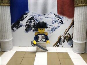 1x LEGO Napoleon Bonaparte with Bicorn hat, Epaulette and Sword