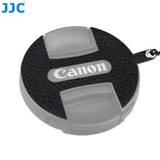 JJC Leather Stickup Lens Cap Keeper W/ String Rope for Canon E-49 49MM Lens Cap