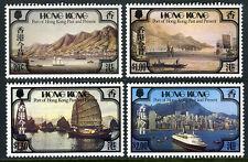 Hong Kong 380-383, MNH. Port of hong kong Past and Present. Views, Ships, 1982