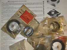 Turntable parts: idler wheels, rollers, belts, turrets, bumpers, tires (NOS/NIB)