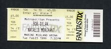 1999 Bob Dylan Natalie Merchant unused concert ticket Buffalo Time Out of Mind
